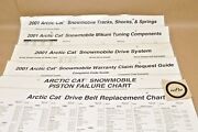 2001 Arctic Cat Snowmobile Service Carb Tuning Belts Parts List Wall Chart Lot