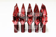 Z Racing 28mm Red Spike Lug Bolts Cone Seat 12x1.5mm For Bmw 5 Series Bolt