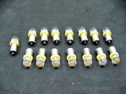15 Bright Amber Led Instrument Panel Dashboard Domes Lights Bulbs Ba9s 1895 Ford