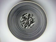 """Edward S Eberle Decorated Porcelain bowl """"Drawing Compressed""""  Alfred University"""