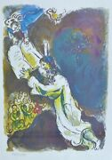 Marc Chagall Exodus Moses + 10 Commandments Signed Hand Numbered 1727/1800 Litho