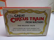 New The Great Circus Train From Walthers 2nd Release 1967b Car 56 And 51 Free Ship