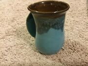 Neher Handwarmer Mug - Left Hand - Ocean Tide - 14 oz. - Clay in Motion