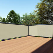 Beige Customize 3and039 Ft 1-250ft Privacy Fence Deck Screen Yard Shade Patio Cover