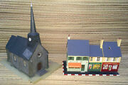 Bundle Of Parts Train Miniature Modelling Buildings Various Old French Model