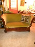Beautiful Early 1700and039s Antique French Regenceand039 Sofa Circassian Walnut