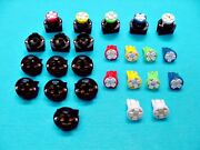 15 Assorted 4 Leds Lights Bulbs 1/2 Sockets Marker License Plate Dash Chevy 194