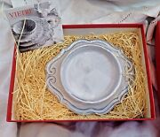 New Vietri Italy Incanto White Baroque Bottle Coaster Candle Holder in Gift Box