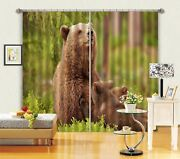 3d Bear Mother 63 Blockout Photo Curtain Printing Drapes Fabric Window Ca Carly