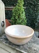 Art Studio Small 5-1/2 Turned Pottery Bowl White Glaze Speckled Oatmeal Signed