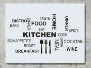 Kitchen Words Text Food Bake Eat Cutlery Wall Decal Art Sticker Picture