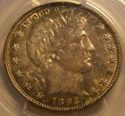 Uncirculated 1892 O Barber Half Dollar Pcgs Ms 63