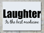 Laughter Is The Best Medicine Motto Quote Words Wall Decal Art Sticker Picture
