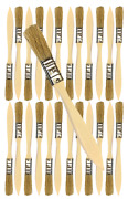 24 Pk- 1/2 Inch Chip Paint Brushes For Paint Stainsvarnishesgluesgesso