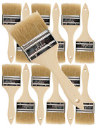 12 Pk- 2 1/2 Inch Chip Paint Brushes For Paint Stainsvarnishesgluesgesso