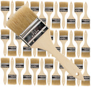 36pk- 2 1/2 Inch Chip Paint Brushes For Paint Stainsvarnishesgluesgesso