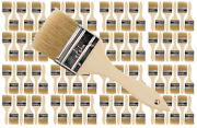 96pk- 2 1/2 Inch Chip Paint Brushes For Paint Stainsvarnishesgluesgesso