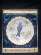 Royal Worcester The Birds Of Dorothy Doughty Plate Mountain Bluebird In Box