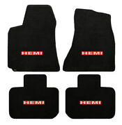 New 2006-2018 Dodge Charger Black Carpet Floor Mats 4pc Embroidered Hemi Logo A