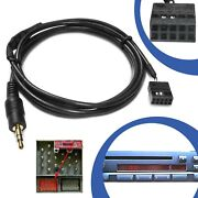 Vehicle Car Aux Line In Adapter Cable 10 Pole Plug Cd Radio Socket For Bmw E46