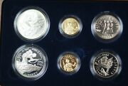 1995 World War Ii 50th Ann. Proof And Bu Silver And Gold 6 Coin Set In Ogp Jah