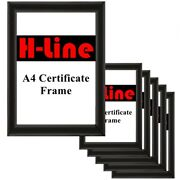 6 X A4 Certificate Black Photo Picture Frames Free Standing Wall Mountable