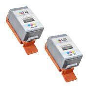 2pk Compatible Bci-16c Bci-16 Color Ink For Canon Selphy Ds700 Ds700 Pixma Ip90v