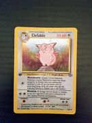 Ultra Rare 1st Edition Clefable Holographic Pokemon Card Excellent Condition