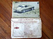 1965 Corvette Factory Gm Original Owners Manual First Edition 1/2 News W Env.