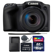 Canon Powershot Sx430 Is 20mp Digital Camera Black With 16gb Memory Card