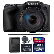 Canon Powershot Sx430 Is 20mp Digital Camera Black With 32gb Memory Card