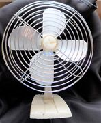 Vintage Wizard Imperial Metal Fan 10 Western Auto Supply Co Works Mid Century
