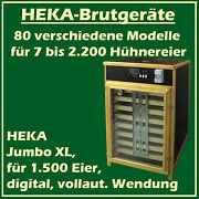Heka Jumbo Xl - Fully-automatic Egg-incubator For 1500 Oeufs - Made In Germany