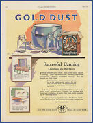 Vintage 1922 Fairbankand039s Gold Dust Washing Powder Soap Detergent Print Ad 1920and039s