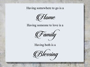 Having Somewhere Is Home Someone Love Family Blessing Wall Decal Sticker Picture