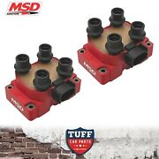 2 X Msd 8241 High Output Ignition Coil Pack Au Ford Falcon 5lt 302 V8 1998-2002