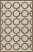 Brown Transitional Rings Hoops Area Rug Circles Tr2