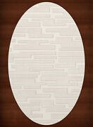 White Transitional Hand Hooked Squares Rectangles Boxes Area Rug Patchwork Dv6