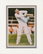 Sir John Major British Prime Minister Signature On Color Photo Playing Cricket