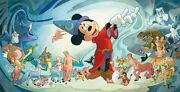 Disney Fine Art Giclee Making Music By Toby Bluth Mickey Mouse