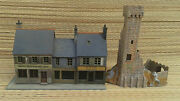Bundle Of Cubicle Train Miniature Modelling Buildings Model Old French Model /