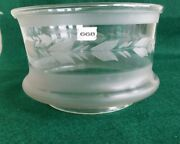 Early 5 Fitter Glass Etched Gas Light Hall Shade Ceiling Fixture Bedroom 668