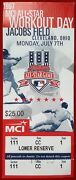1997 M.l.b. All-star Workout Day Ticket Jacobs Field Cleveland Oh 7/7/97 Mint