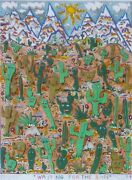 James Rizzi Waiting For The Sun 1989 Hand Signed Serigraph 3-d Pop Art Framed