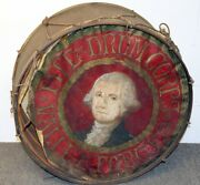Vintage Antique Rare Valley Forge Fife And Drum Corps Painted Drum By J.w.pepper
