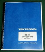 Tektronix Sg 505 Instruction Manual W/ 11x17 Foldouts And Protective Covers