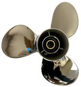 11 1/8x13-g Stainless Steel Outboard Propeller For Yamaha 40-60hp 69w-45945-00-e