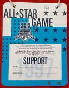 1997 Mlb All-star Game Support/media/press Pass Jacobs Field Cleveland Indians