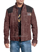 Han Solo A Star Wars Story Brown Suede Leather Jacket High Quality