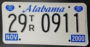 Genuine Usa Licence Plate Alabama Heart Of Dixie United States Year 2000